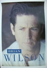 BRIAN WILSON Beach Boys AUTOGRAPHED Vintage Promo Poster Mint- 1988 Very Nice!