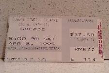 Grease on Broadway Ticket Stub - Eugene O'Neill Theatre 1995 Brooke Shields