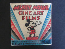 1930's MICKEY MOUSE Walt Disney CINE ART Films Color Box with Contents NM