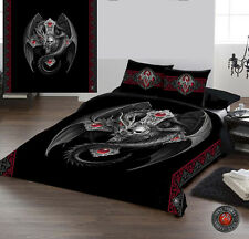 GOTHIC DRAGON - Duvet and Pillows Covers Set / Size fit / Queensize Bed