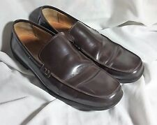 MENS 9 M COACH JERRY BROWN LEATHER PENNY LOAFERS  EURO 42 MADE IN ITALY SHOES