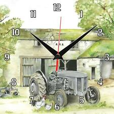 No.1 Grey Ferguson Sue Podbery Tractor Wall clock, great handmade gift present