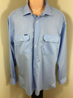 RB Sellars Harvester Shirt Sussex End On End - Long Sleeve Blue Large As New