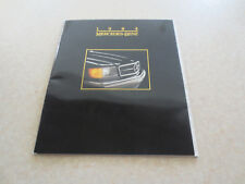Original 1984 Mercedes cars advertising booklet - 190 300 380 500 series