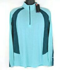 NEW Under Armour Mens Large L Aqua HeatGear 1/4 Zip Pullover Long Sleeve Top NWT
