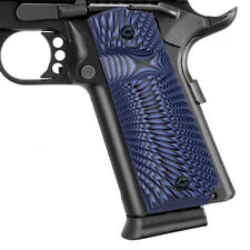 Grips for 1911 Full Size - Ambi Safety - Custom G10 - Thumb Groove Notched SBST