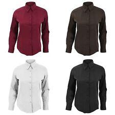Waist Length Business Long Sleeve Tops & Shirts for Women