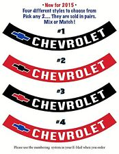 Chevrolet • AIR CLEANER DECALS / RIBBONS •  FOUR Different Colors Avalible !