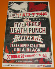 FIVE FINGER DEATH PUNCH Saints & Sinners Ball  1st Bank 11x17 Flyer / Gig Poster