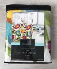Cynthia Rowley Shower Curtain Fiorina Large Multi Floral Border Print - NEW
