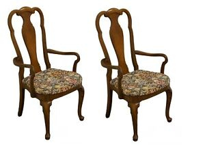 Set of Two THOMASVILLE FURNITURE Carlton Hall Collection Dining Arm Chairs 80...