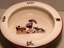 Antique  art deco Czechoslovakian ceramic baby  Bowl