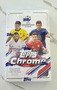 2020-21 Topps Chrome UEFA Champions League Soccer HOBBY BOX FREE 2 DAY SHIP