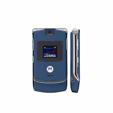 Motorola Razr V3 Unlocked International Cellular Phone Flip Mobile Phone Blue