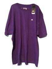 New Adidas Men's Cotton The Go To Tee Short Sleeve Purple/White Logo - 2Xl