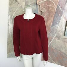 Clothes By Revue Womens Red Wool Blend Cardigan Zip Up Sweater Size Medium
