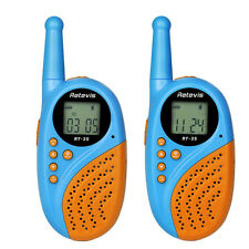 Kids Walkie Talkie Retevis RT-35 UHF 22CH VOX CTCSS/DCS LED Clock Alarm Radio as