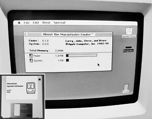 Classic Apple Macintosh Boot Disk System [1.1 - 6.0.8] 400/800k for Vintage Macs