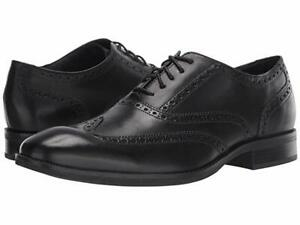 Cole Haan Wayne Wing Tip - Black - British Tan