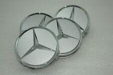 Orig. Mercedes-Benz 4x Radnabendeckel Radnabenkappen Radnabenabdeckungen silber