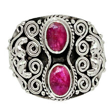 Ruby 925 Sterling Silver Ring Jewelry s.6.5 32635R