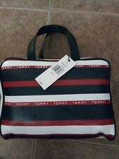 Tommy Hilfiger Cosmetic Makeup Bag- One Size, Navy/Red/White MSRP: $68 NWT