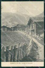 Svizzera Canton Vallese Zermatt Cervino cartolina VK3947