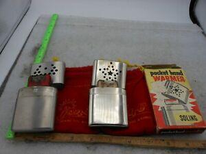 2 Vintage Pocket Hand Warmers JON-E & SOLING With Original Box