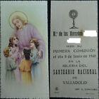 ESTAMPA PRIMERA COMUNION IGLESIA SANTUARIO NACIONAL 1940 HOLY CARD CC1240