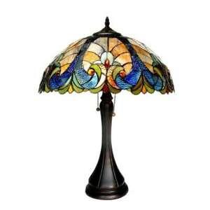 Tiffany Style Victorian Design 2-light Bronze Table Lamp by Chloe Lighting