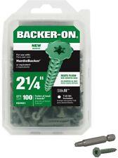 Backer-On #9 x 2-1/4 in. Serrated Head Star Drive Cement Board Screws (100-Pack)