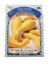 Vegetable Seeds Gardening Planting Squash Early Summer Crookneck, American Seed