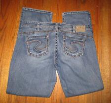 "Women's SILVER JEANS Tuesday 16-1/2"" Boot Cut Jeans Plus Sz 20x32-1/2"