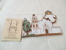 Calif St Andrew's Abbey Ceramics hand made Plaque Mission San Diego de Alcala