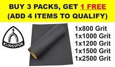 WET AND DRY SANDPAPER KLINGSPOR 800 1000 1200 1500 2500 Grit (Pack of 5 sheets)