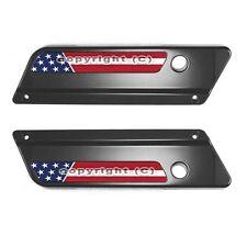 2 Saddlebag Latch Reflector Insert Decals for 93-13 Harley - USA AMERICAN FLAG