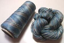 100% Pure Mulberry Queen Silk Yarn 50 gram 3 Ply Lace Weight Rain QS002 Lot F