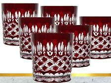 Lead Glass Whisky Glasses Roman 6 Piece (298 Car-R ) Red Crystal Whiskygläser