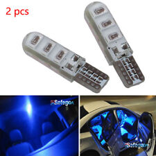 2pc blue T10 6SMD Car Silica Gel LED Wedge Light Plate License 194 2825 501 Bulb