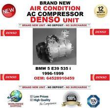 DENSO AIR CONDITION AC COMPRESSOR for BMW 5 E39 535 i 1996-1999 OEM: 64528910459
