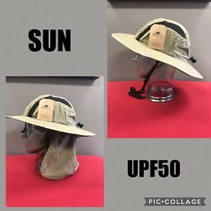 Tough Outfitters Safari Bucket Hat UPF-50 Sun Protection Mesh Crown W/ Neck Flap