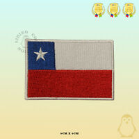 Chile National Flag Embroidered Iron On Sew On Patch Badge For Clothes Etc