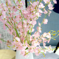 Artificial Butterfly Orchids Bunches Blossom Branch Silk Flower Floral Plastic L