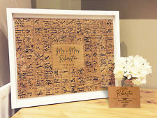 Jigsaw Guestbook Wedding Personalised Framed or Unframed - Signature Style