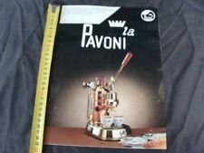 Brochure depliant La Pavoni professional e Europiccola macchina da caffè a leva