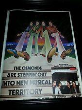The Osmonds Steppin' Out Rare Original Promo Poster Ad Framed!
