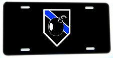 Bomb Squad Aluminum License Plate - Old Bomb Design
