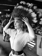 GINA LOLLOBRIGIDA PHOTO indian head dress photograph