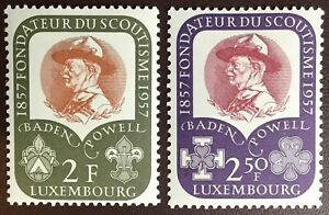 Luxembourg 1957 Scouts MH