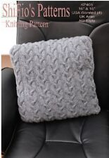 KNITTING PATTERN CABLE CUSHION COVER #406 THIS IS A BOOKLET